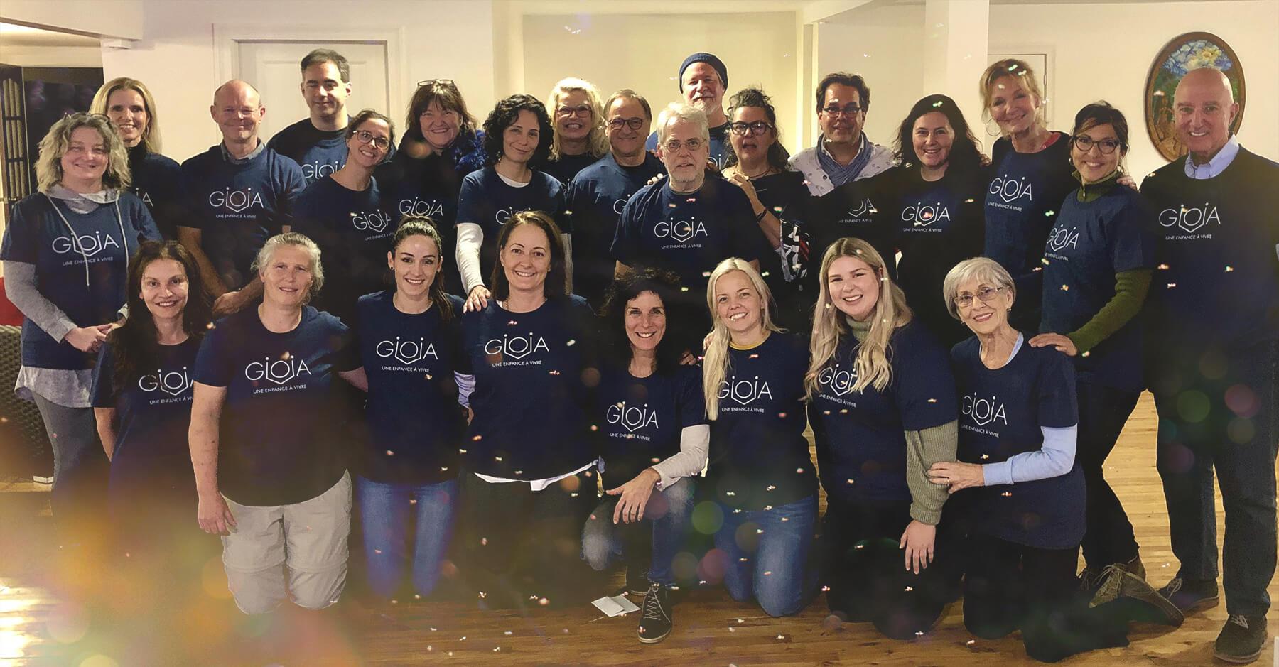 L'équipe de bénévoles des Enfants GIOIA - Organisme d'émergence pour enfantset jeunes adultes atteints de maladiesorphelines ou incurables